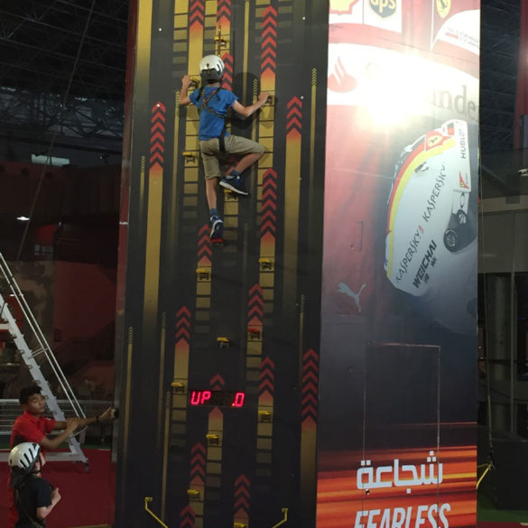 Climbing wall at Ferrari World, Yas Marina, Abu Dhabi