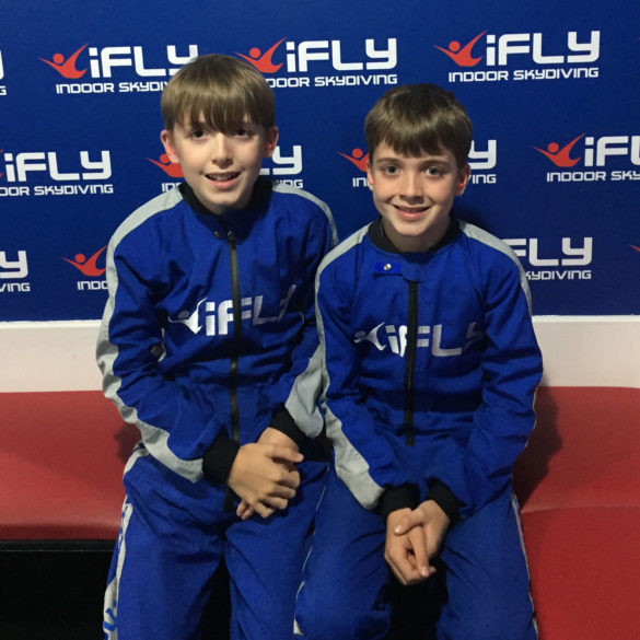 iFLY Indoor Skydiving, changing into Jumpsuits