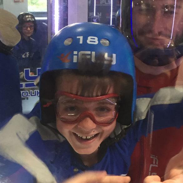 iFLY Indoor Skydiving, look mum I'm flying