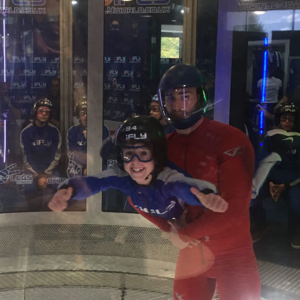 iFLY Indoor Skydiving, thumbs up, big smiles, Hampshire