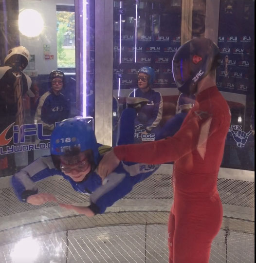 iFLY Indoor Skydiving, I'm flying
