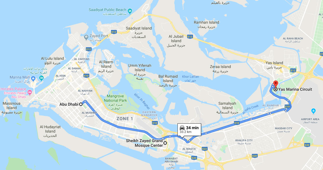 Abu Dhabi, Map
