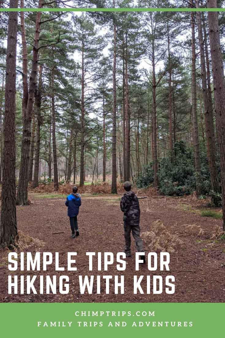 Pinterest - Easy tips for hiking with kids