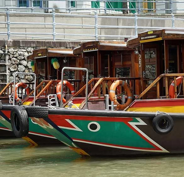 Singapore River, boats