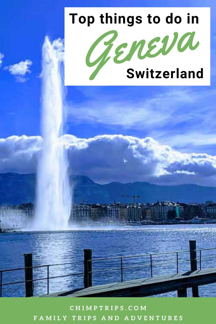 Pinterest cover showing Geneva fountain
