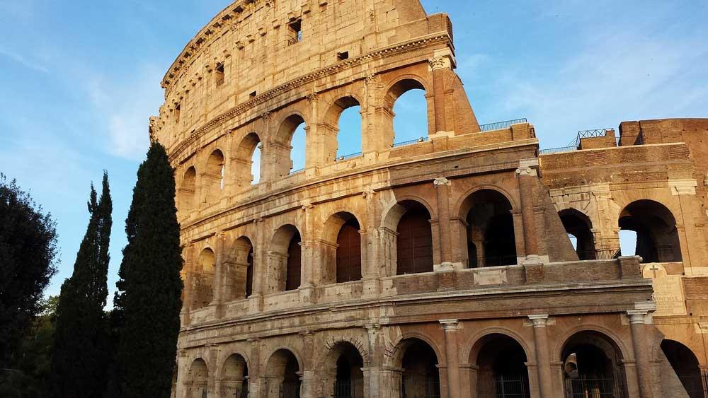 view of Collosseum, Italy