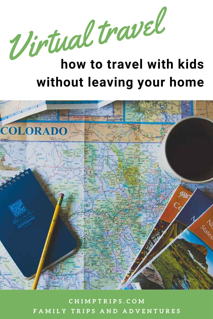 Pinterest Virtual Travel with kids without leaving your home