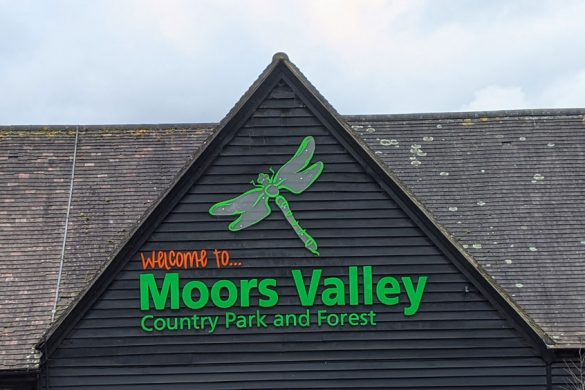 View of the welcome center at Moors Valley Country Park and Forest