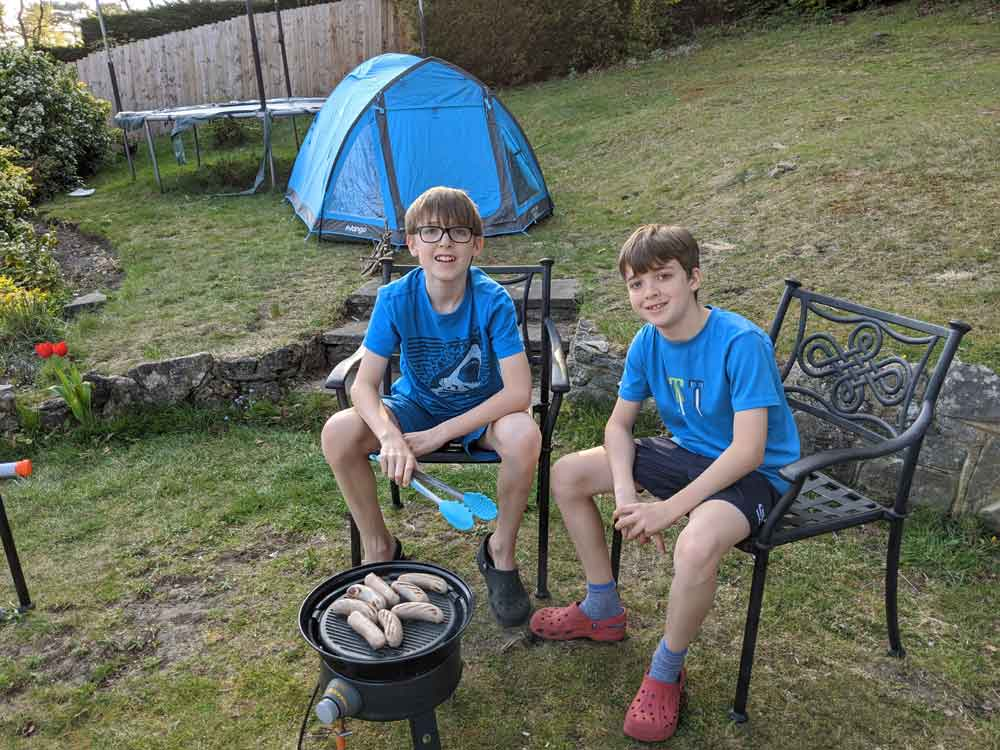 Camping in the back garden