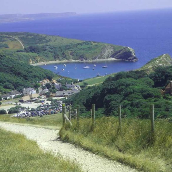 Path leading down to Lulworth cove