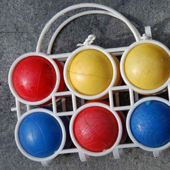 picture colourful boules set
