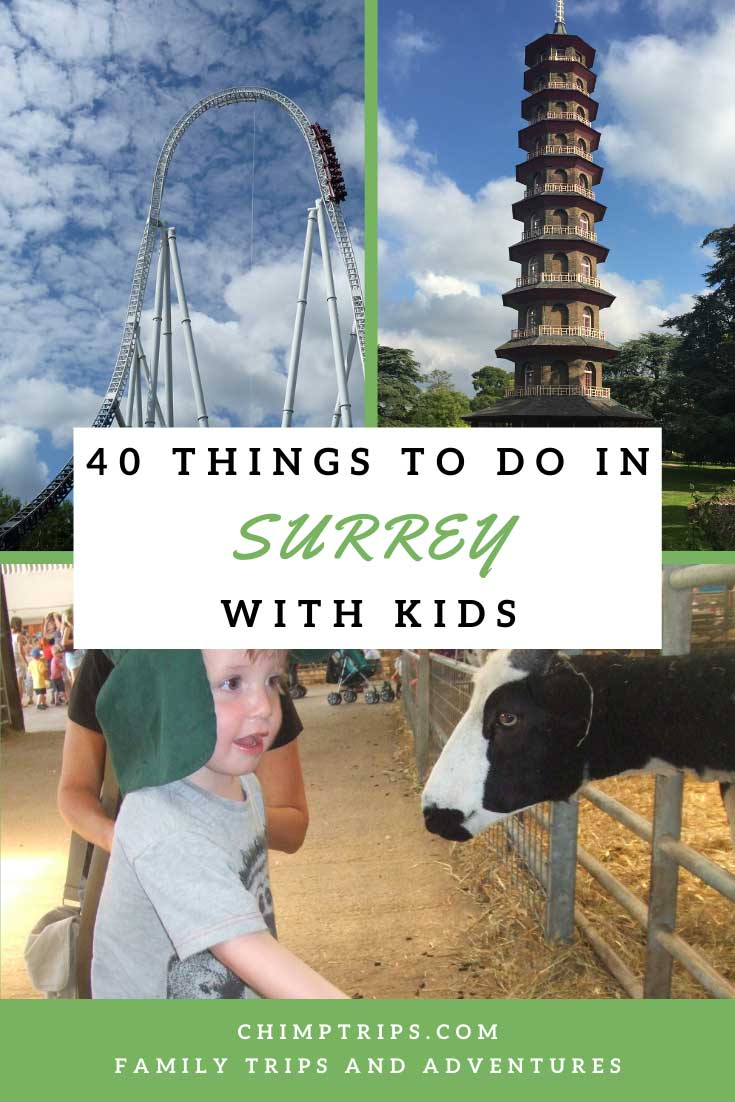 Pinterest 40 things to do in Surrey with kids