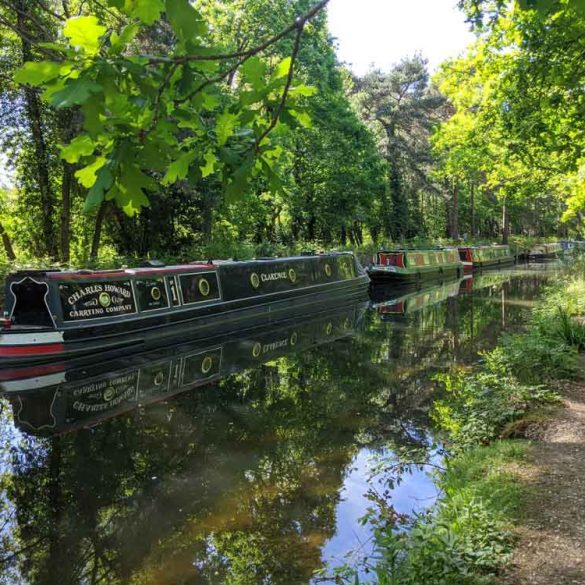 boats on Basingstoke Canal, Hampshire