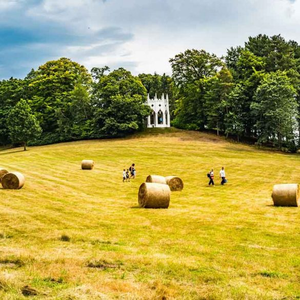 Hay stacks at Painshill Park, Surrey