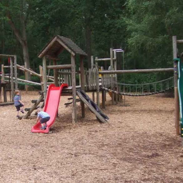 Childrens playground at Wellington country Park, Berkshire, England