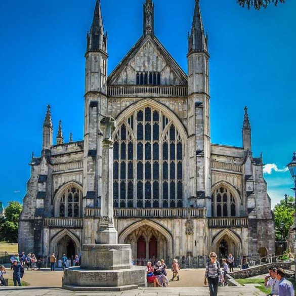 view of Winchester Cathedral, Hampshire