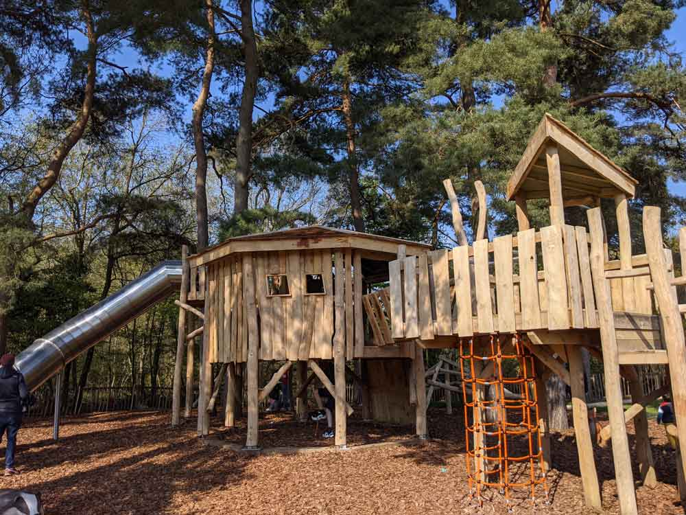 Wooded Play Equipment at California Country Park, Berkshire, UK