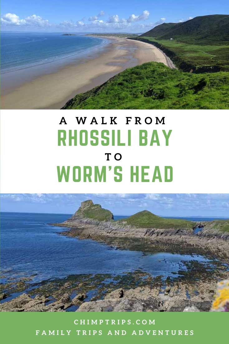 Pinterest: A walk from Rhossili Bay to Worm's Head