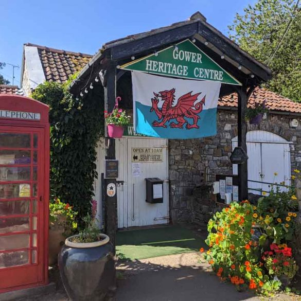 Entrance to Gower Heritage Centre, Gower Peninsula