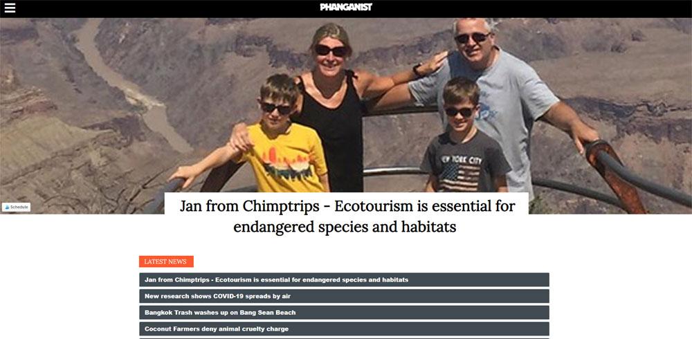 screen shot of Chimptrips coverage in Phanganist