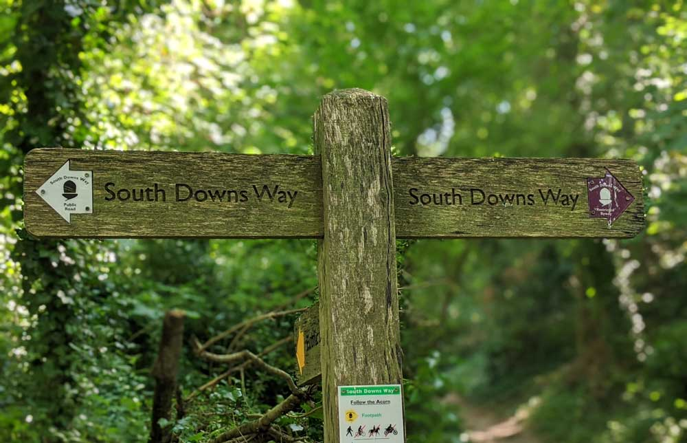 The South Downs Way sign post