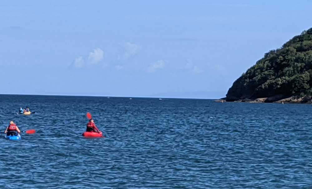 Water sports at Oxwich Bay, Gower Peninsula