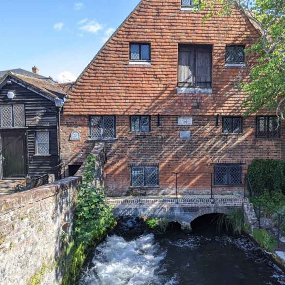 Winchester Mill at the start of the South Downs Way