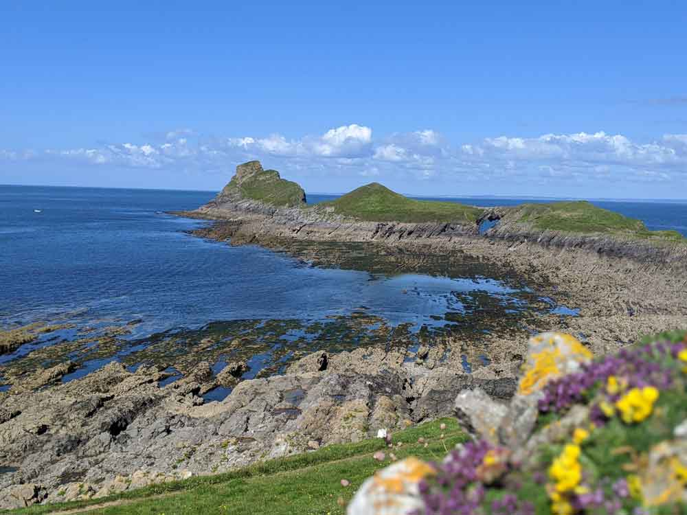 View of Worms Head, Rhossili Bay, Gower Peninsula