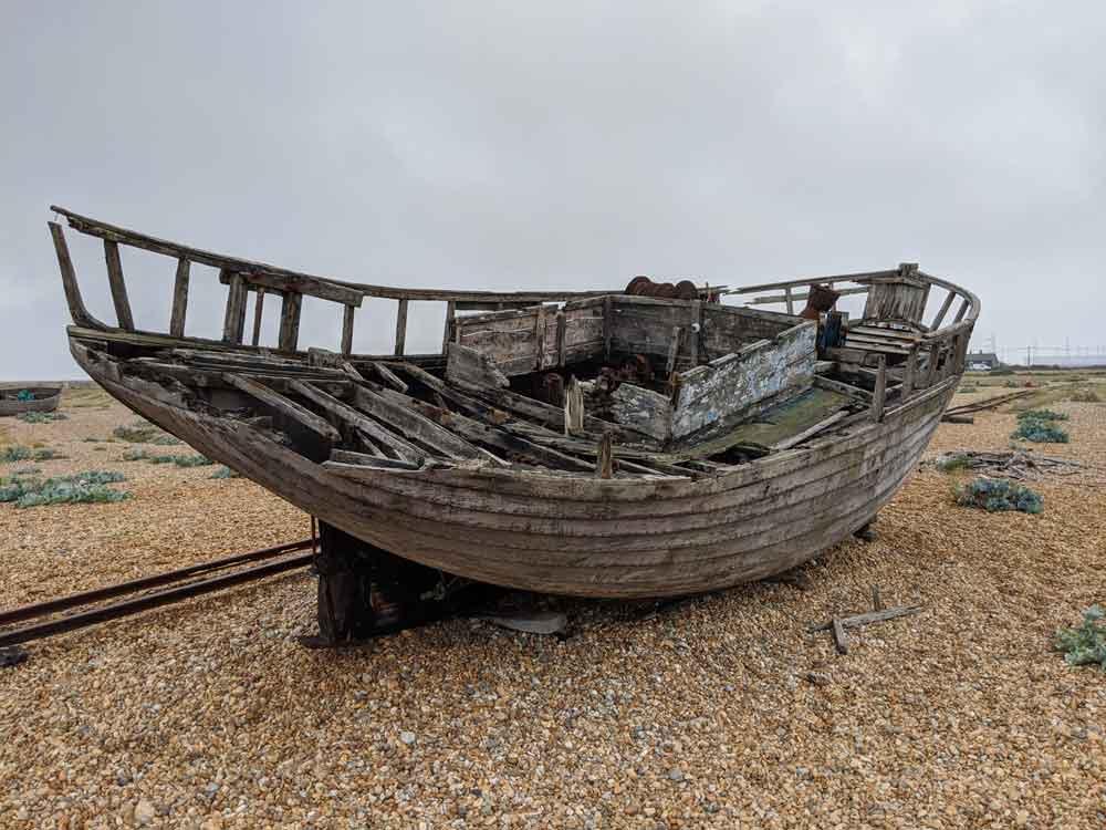 Abandoned Fishing boat, Dungeness, Kent, England