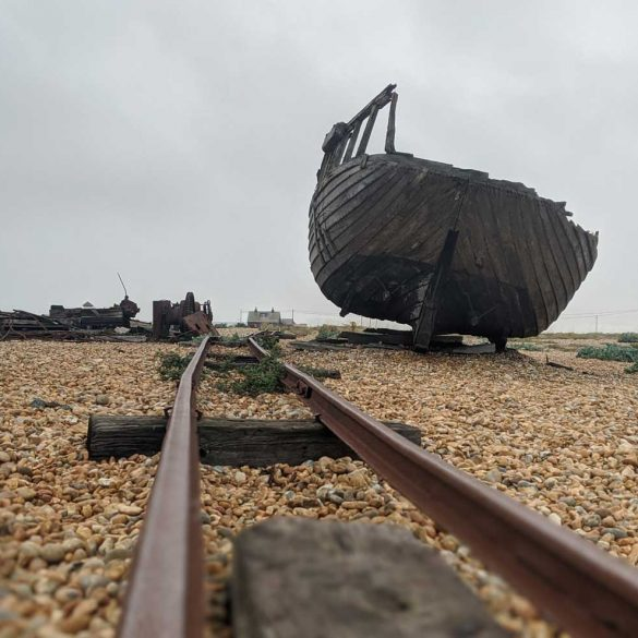 Abandoned Boat and rail lines, Dungeness, Kent