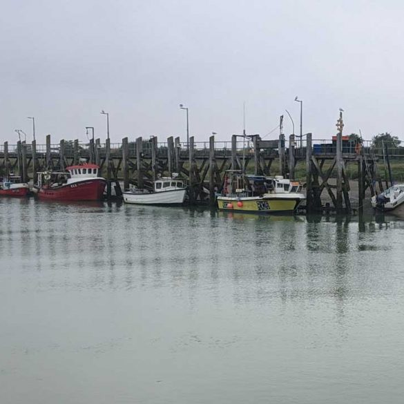 Grey day, Boats moored in Rye Harbour, Rye, England