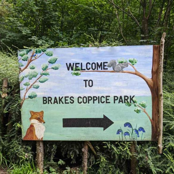 Brakes Coppice Campsite Sign, East Sussex, England