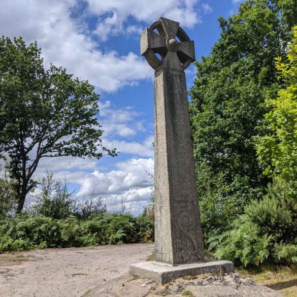 Celtic Cross on Gibbet's Hill, Devils Punchbowl, Hindhead, Surrey, UK