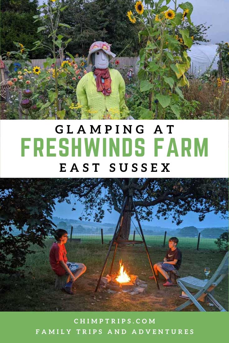 Pinterest: Glamping at Freshwinds Farm, East Sussex