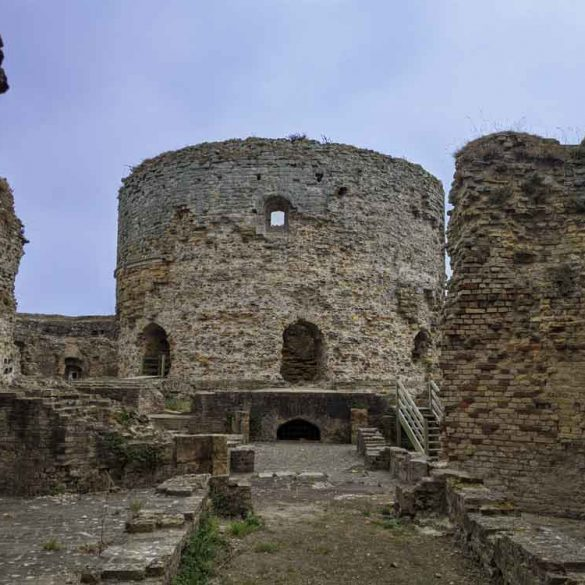 Inside Camber Castle, Rye, Sussex