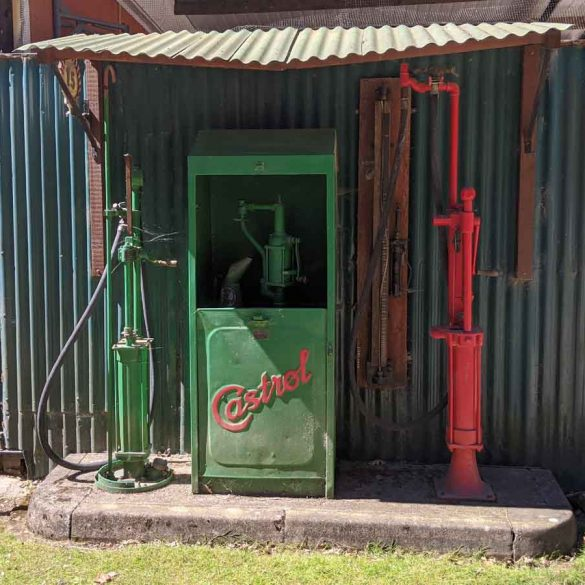 Old Style Petrol pump, Rural Life Centre, Surrey