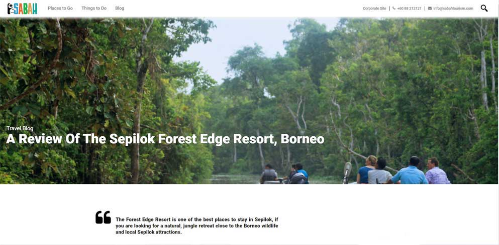 Sabah Tourism - Review of Sepilok Forest Edge Resort, Borneo