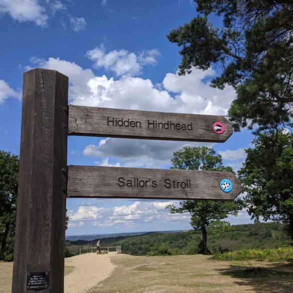 Start of Hidden Hindhead walk, Devils Punchbowl, Hiindhead, Surrey, UK