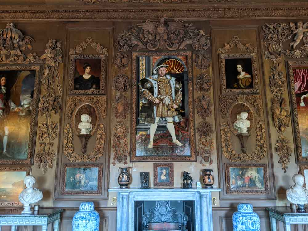 Art collection Petworth House with impressive King Henry VIII at center, Sussex