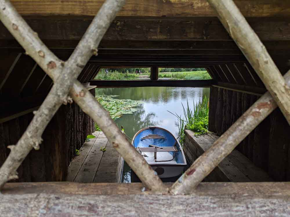 Looking into the Arundel Castle boat house