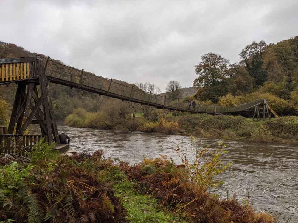 Biblins rope Bridge, Symonds Yat, Wye Valley, Gloucestershire, UK
