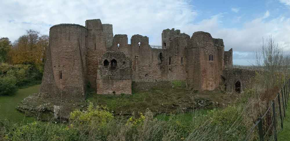 View of remains of Goodrich Castle, Wye Valley, UK