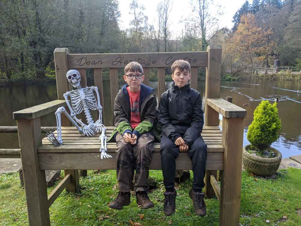 Heritage Centre Halloween chair, Forest of Dean, Gloucestershire, UK
