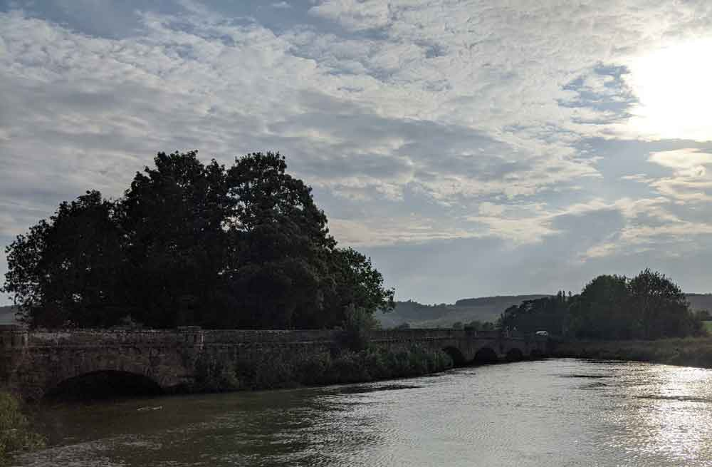 Houghton Bridge at Amberley, South Downs, Sussex, UK