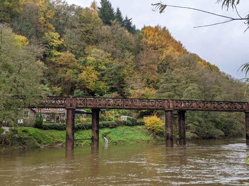 Redbrook Penallt Viaduct, Wye Valley, Gloucestershire, UK