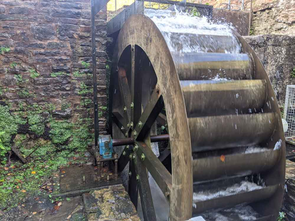 Water mill, Dean Heritage Centre, Forest of Dean, Gloucestershire, UK