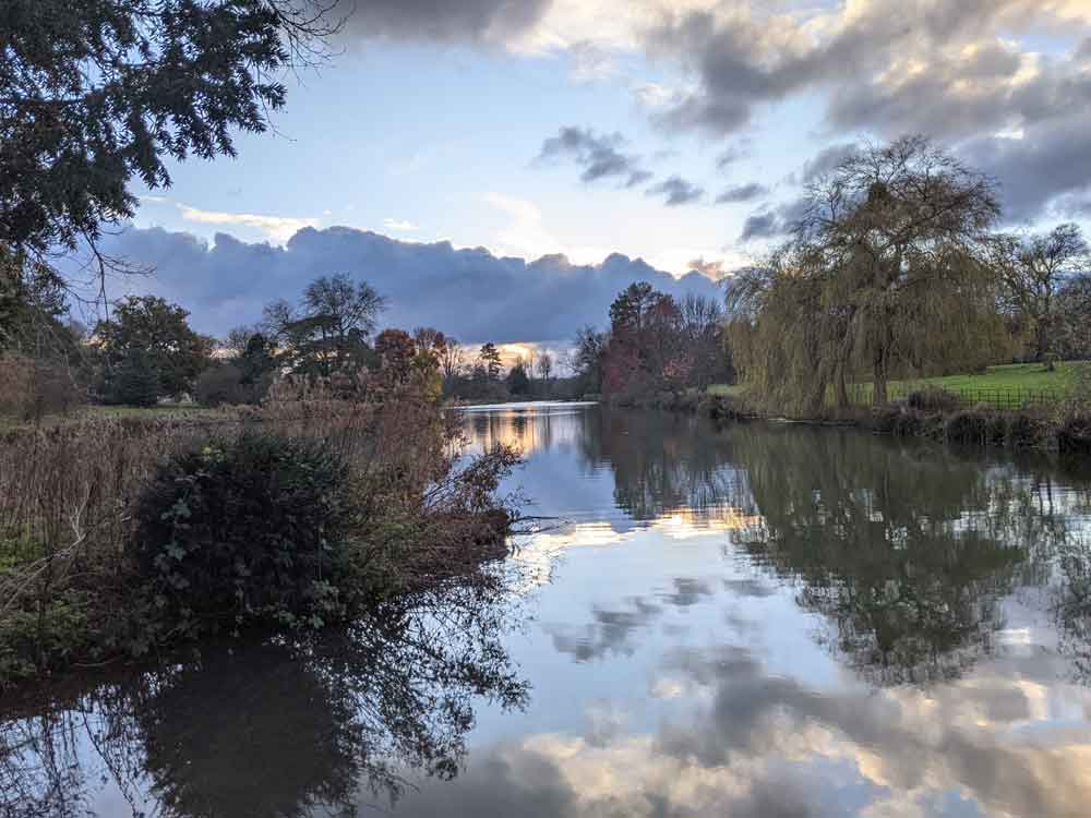 The lake at the Vyne, Hampshire, UK