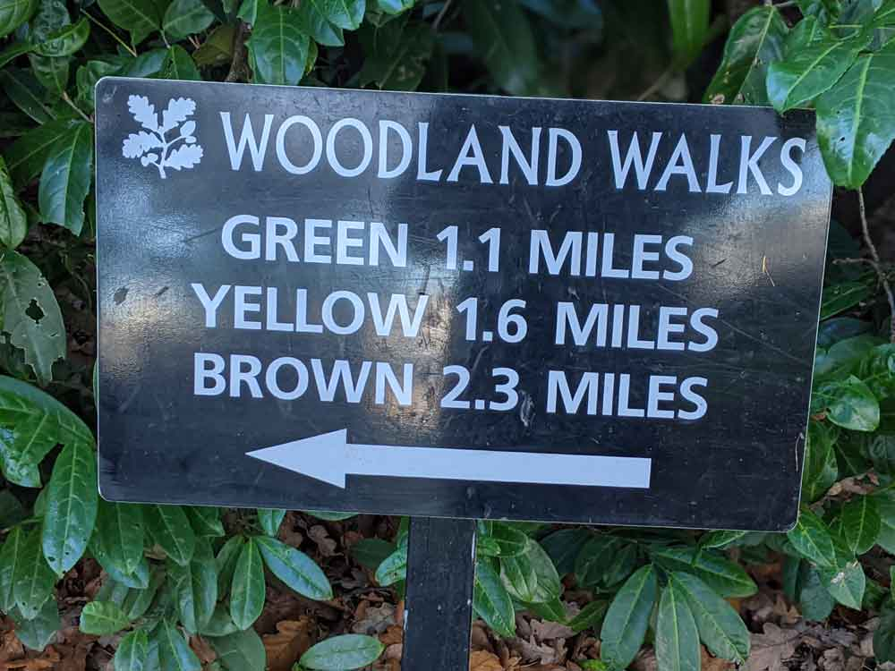 Woodland walks sign, The Vyne, Hampshire