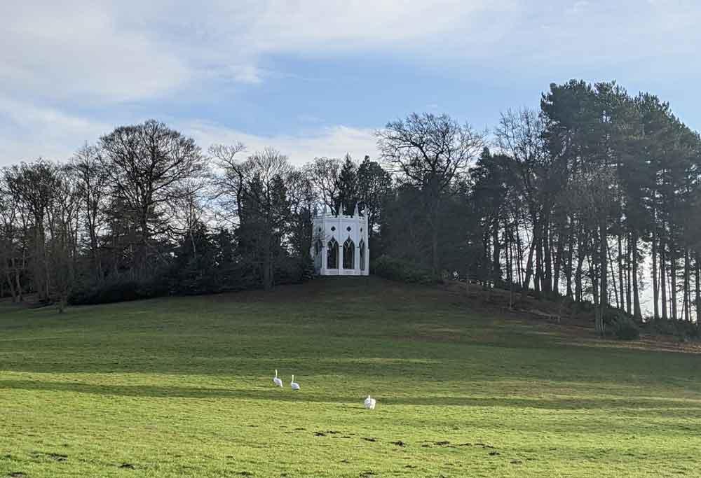 Gothic temple Painshill Park, Surrey, UK