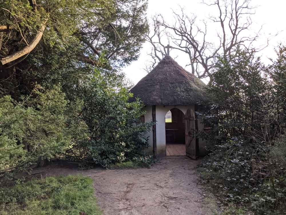 Hidden Hermitage Hut Painshill Park, Surrey, UK